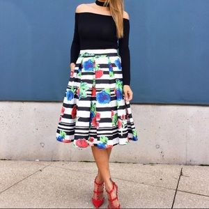 T&J Designs Skirts - Beautiful Midi Skirt With Pockets